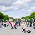 People in Vigeland Park in Oslo